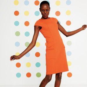 Boden Orange Retro Style Ponte Dress 4